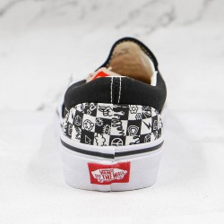 Doodle Checkerboard Classic Slip-On Black True White Shoes