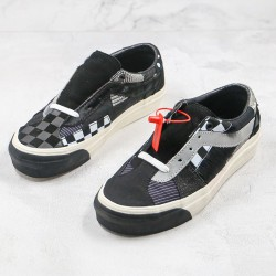 Size x Vans Bold Ni Patchwork III Black Truewht Skate Shoes
