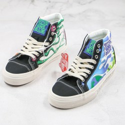 Sk8-Hi Vans Mother Earth Style 238 Elements Marshmallow Canvas Skate Shoes