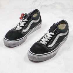 Vans Old Skool Off The Wall Overwashed Distressed Canvas Skate Shoes